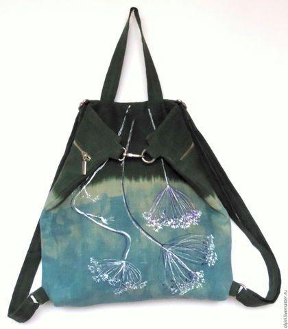 "Рюкзак - сумка трансформер ""Травы над водой""   Сумки ..."