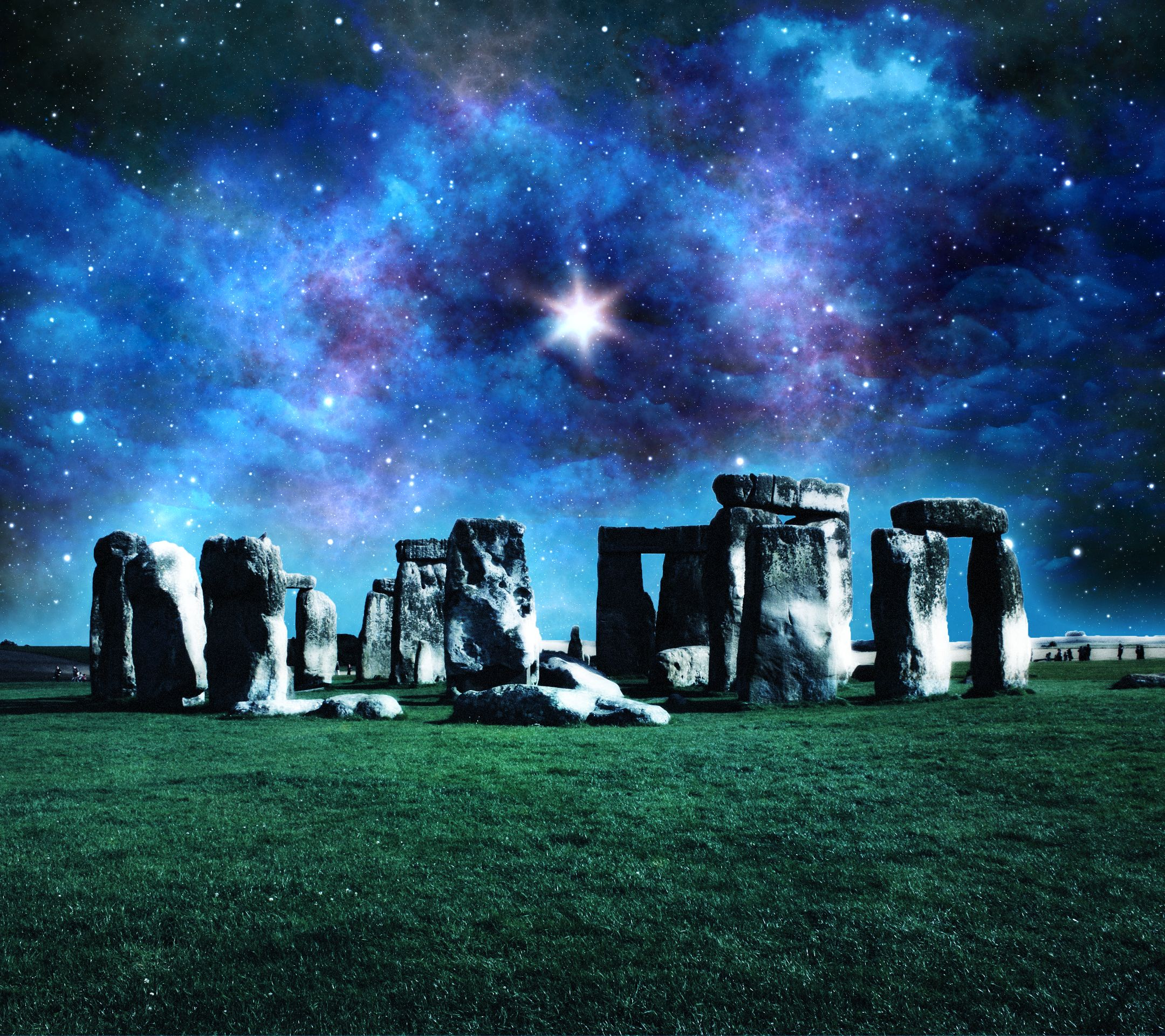 stonehenge galaxy space android wallpaper mobile9