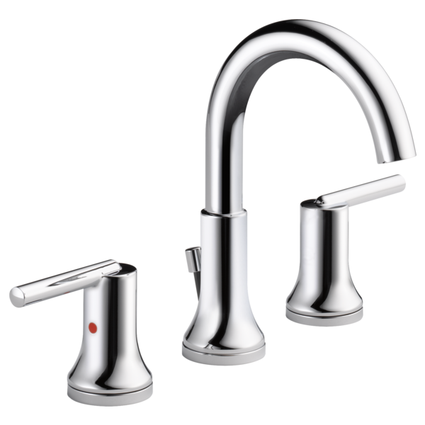Two Handle Widespread Bathroom Faucet 3559 Mpu Dst Delta Faucet Widespread Bathroom Faucet Bathroom Faucets Chrome Delta Trinsic