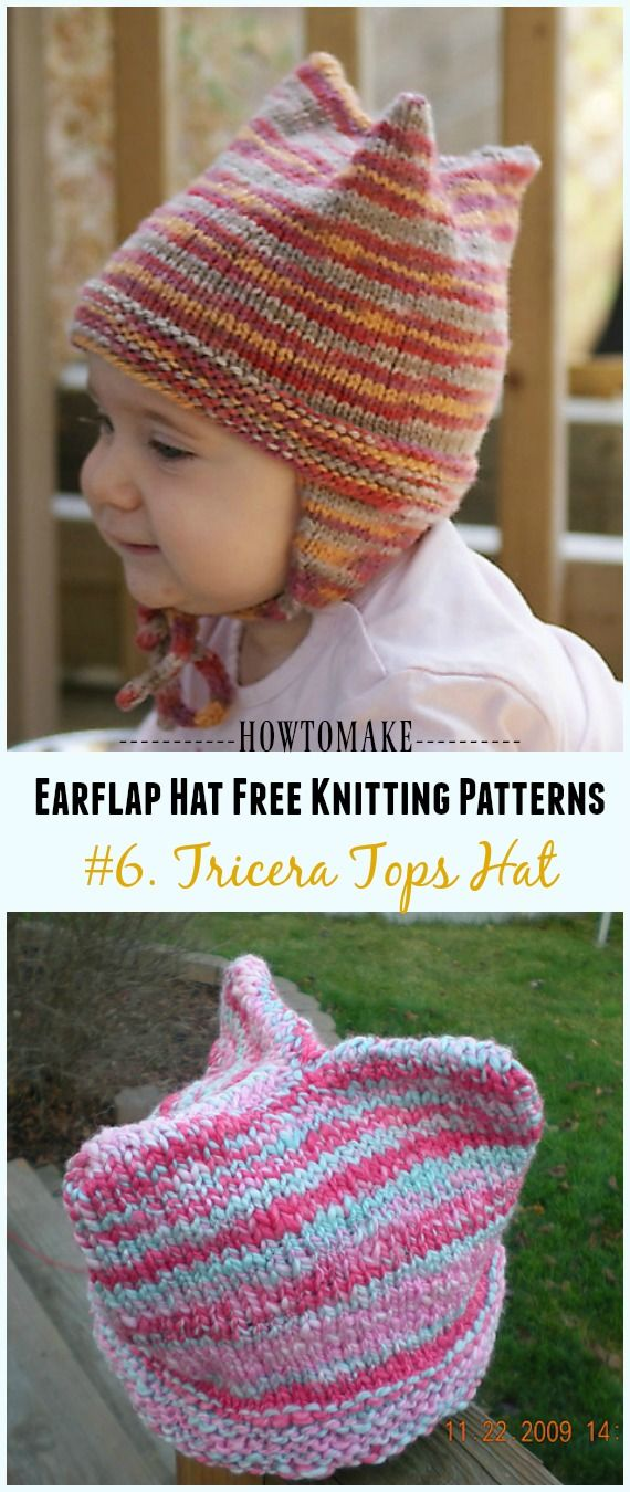 Earflap Hat Free Knitting Patterns (With images ...