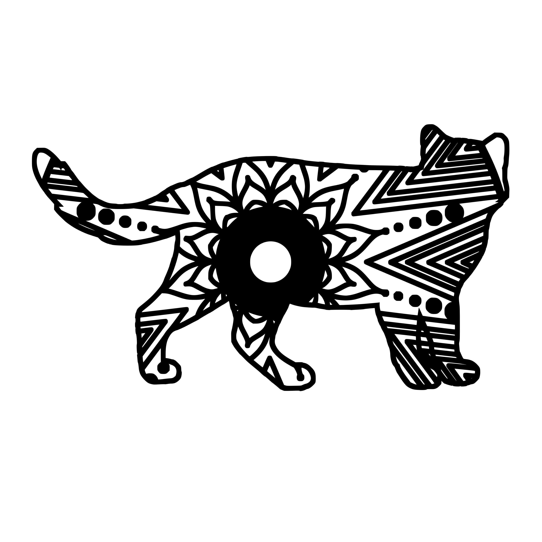 Cat Mandala Animal Svg T Shirt Digital Download With