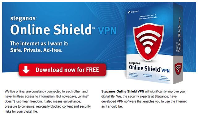 Steganos Online Shield:VPN 連線加密工具,免費每月 2 GB 流量(一年份)