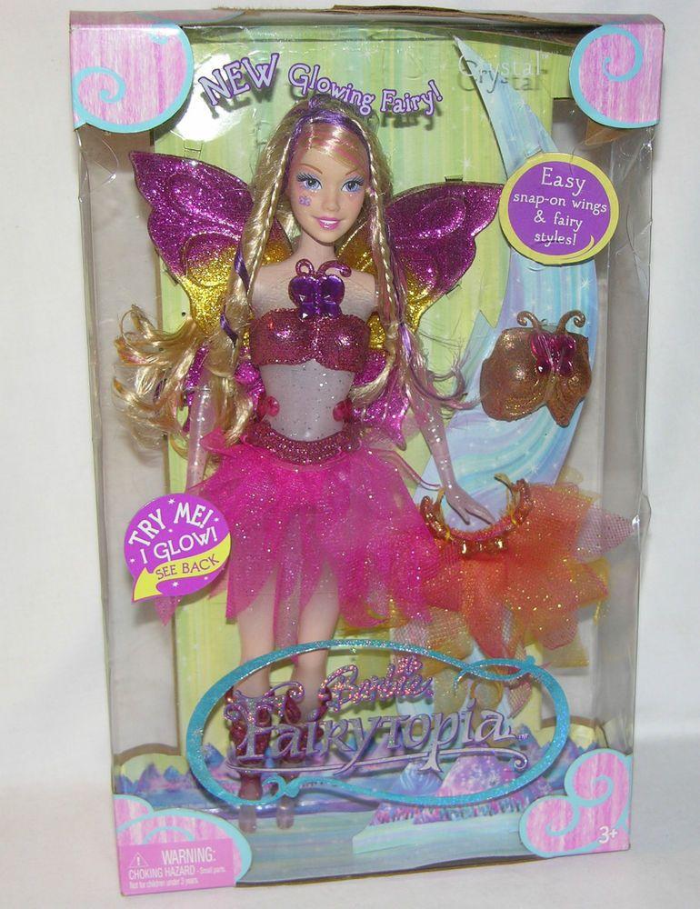 2005 Fairytopia Crystal Barbie Fairy Doll G6261 Nrfb Mattel