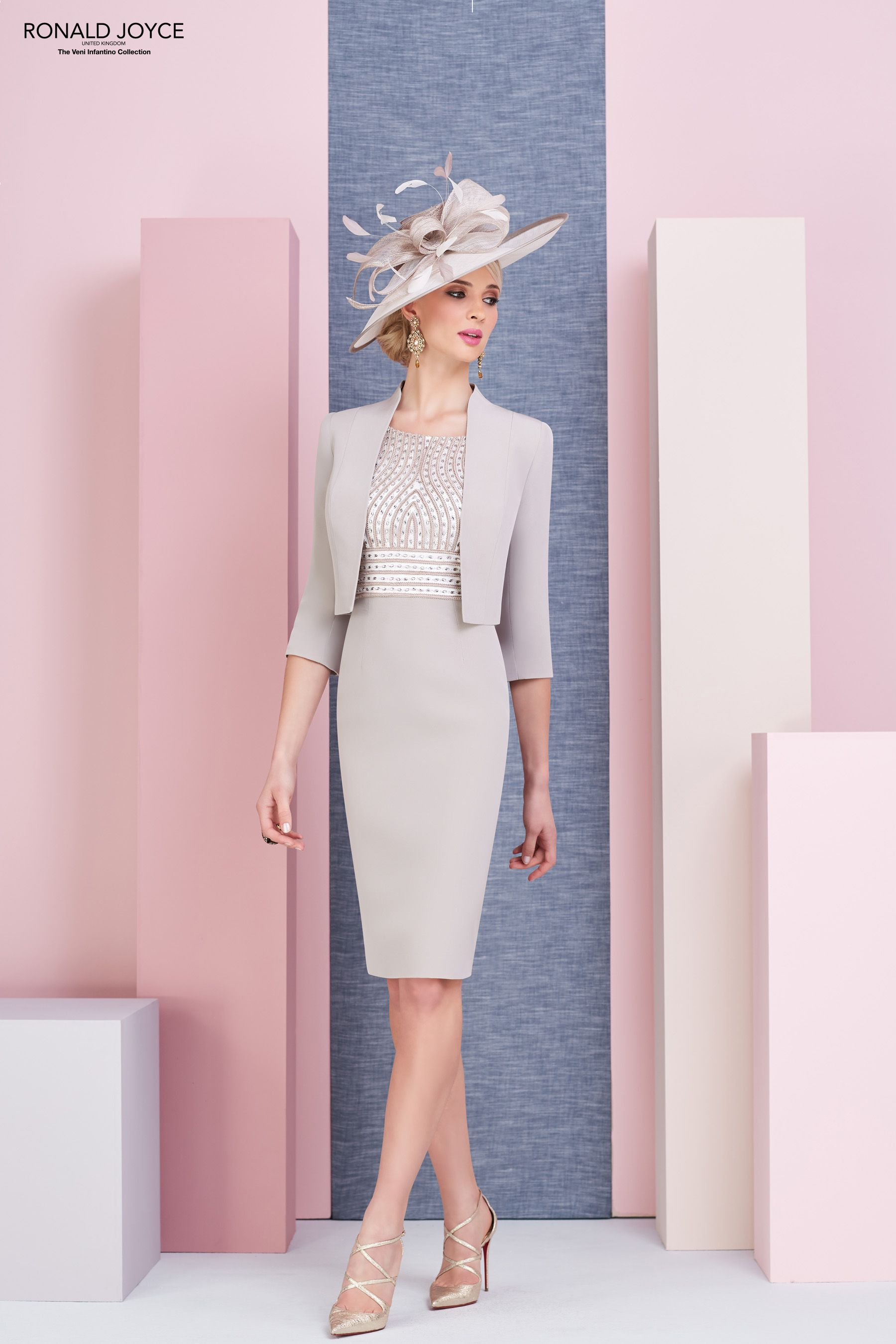 df9b3ae27d9c1 Now instore in sizes 8-14 in Taupe/Ivory The perfect wedding outfit for the  Mother of the Bride and Mother of the Groom. Veni Infantino by Ronald Joyce  ...