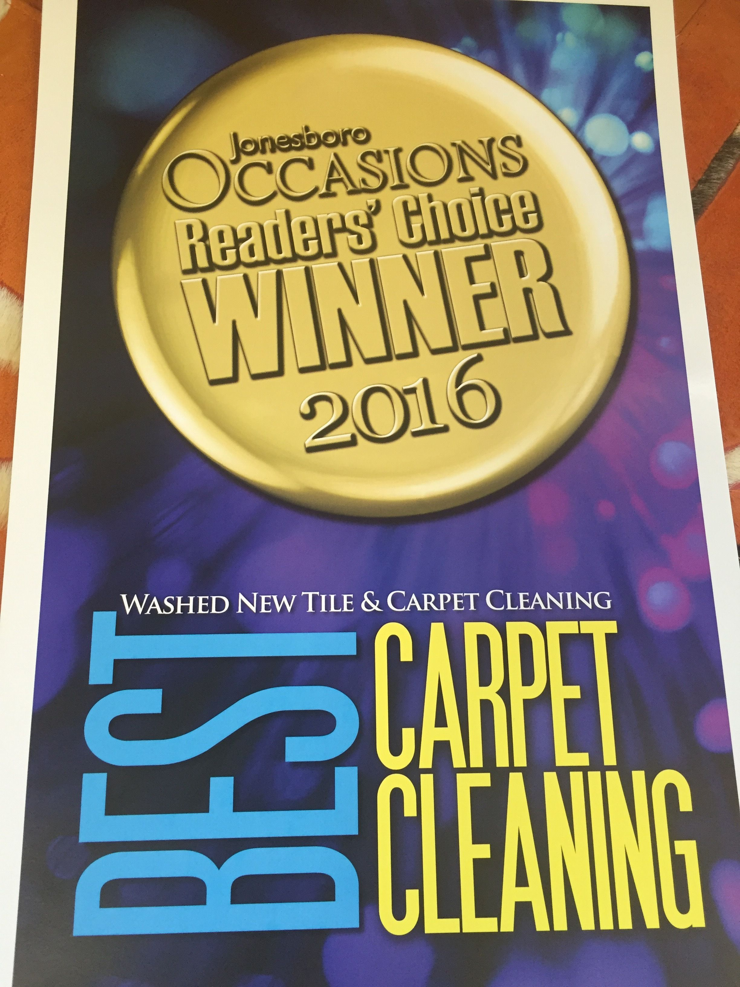 Wow We Are Honored To Have Been Voted Best Carpet Cleaning Service