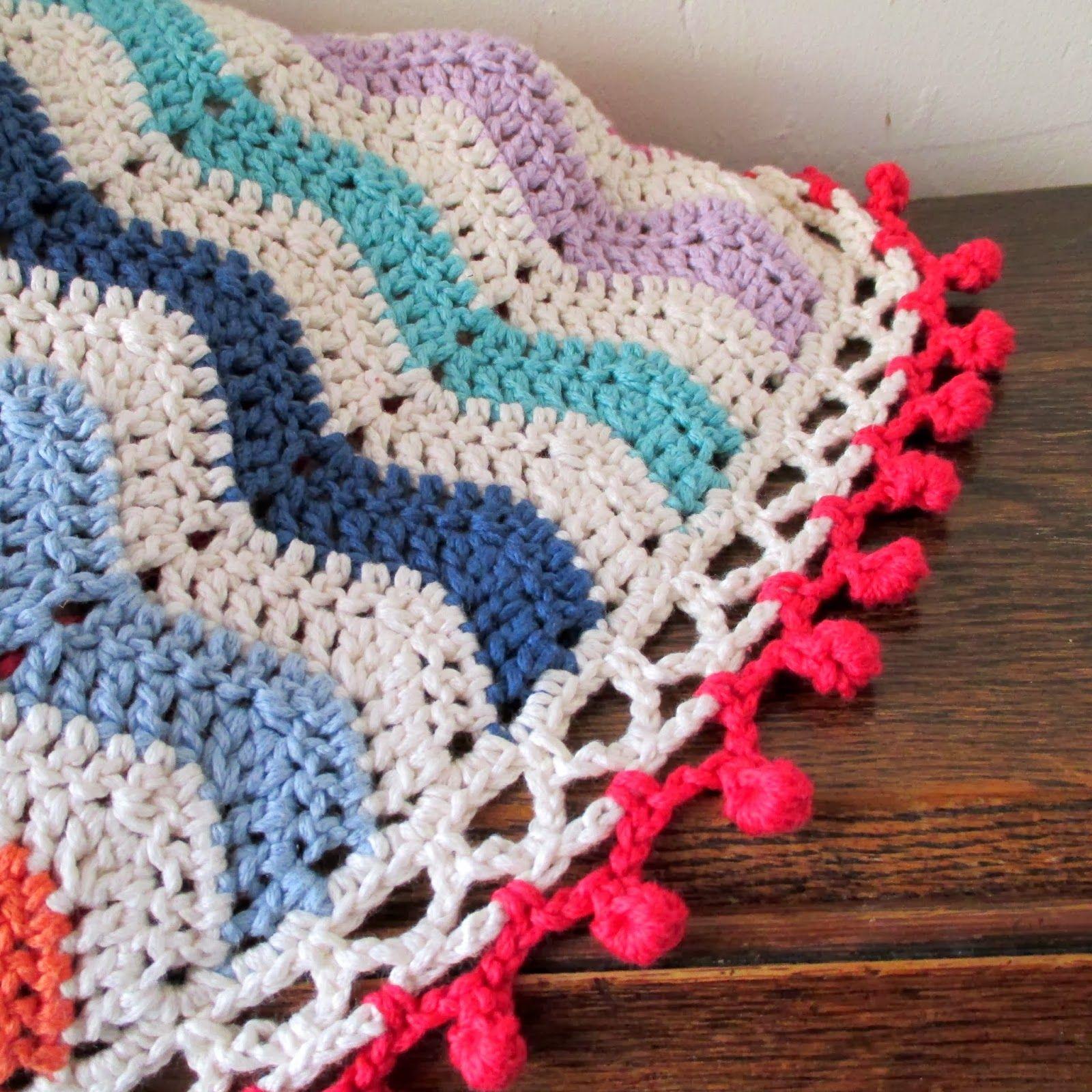 Crochet ripple blanket with bobble edging crochet projects crochet ripple blanket with bobble edging bankloansurffo Images