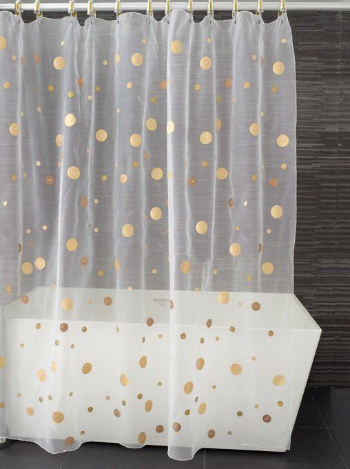 Moondance Shower Curtain Also In Blue White Silvers Orange