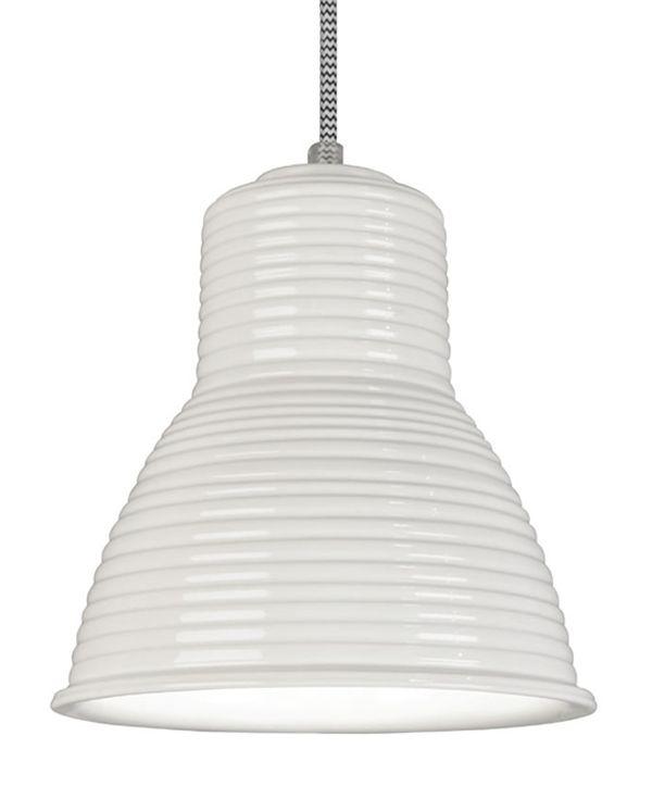 Ineslam Pendant Light Ampurias Ceramic Pendant In White Glazed