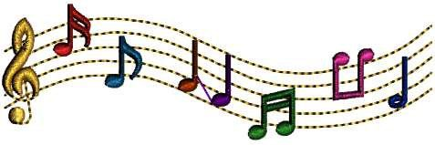 Music Notes Songs Singing Embroidery Design by DesignByTheStitches, $1.99
