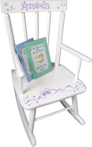 Adorable Personalized Baby Rocker With Design You Choose And Name