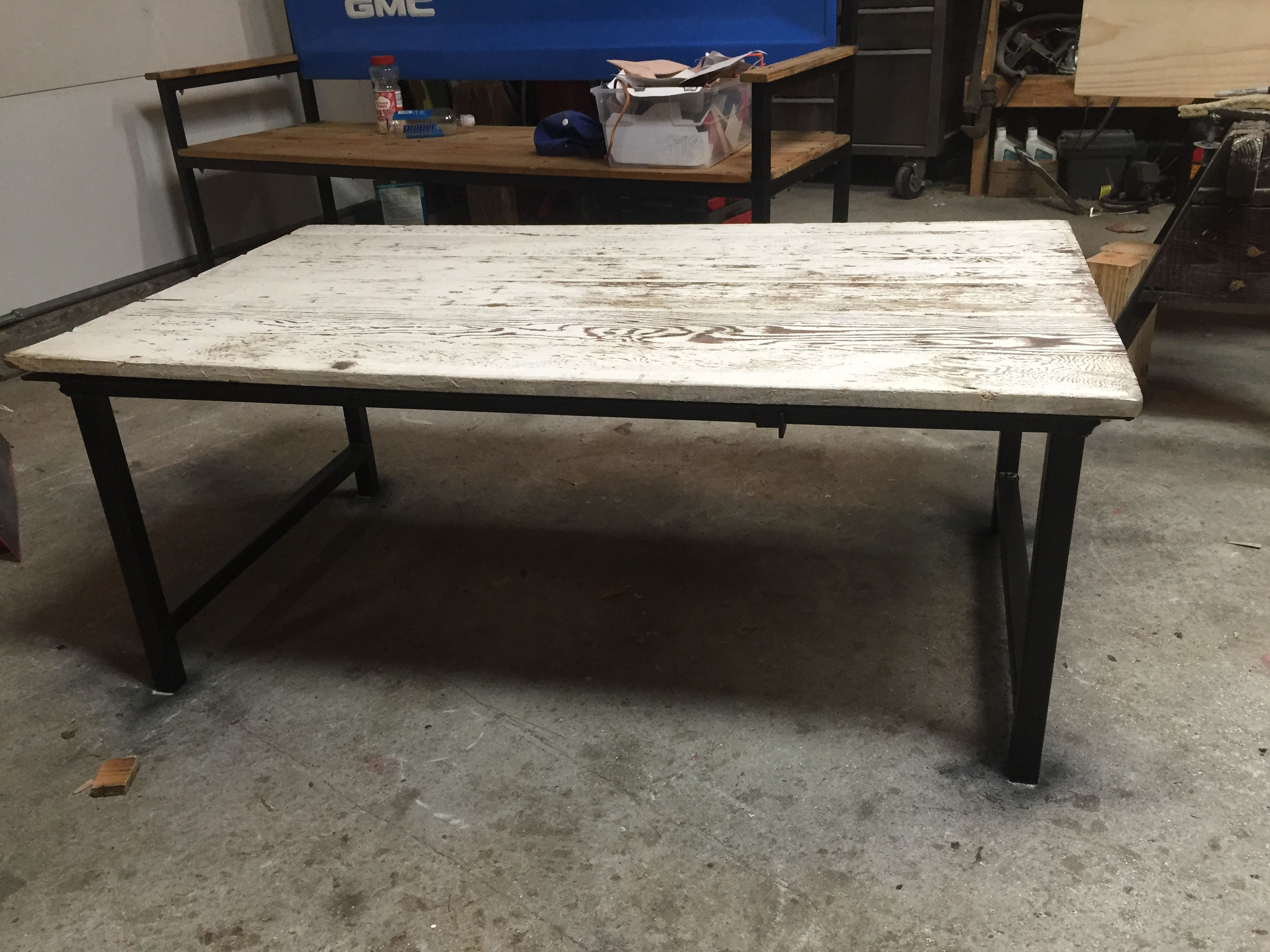 Coffee Table Welded Out Of 14 Ga 1 1 4 Tubing And Angle Iron With  # Muebles Tumbing