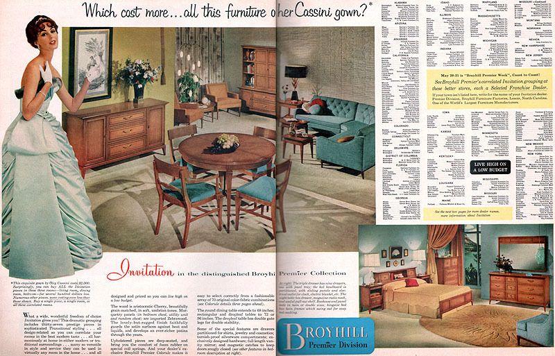 Mad For Mid Century: Vintage Broyhill Premier Furniture Brochure