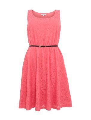 Pink Daisy Lace Skater Dress