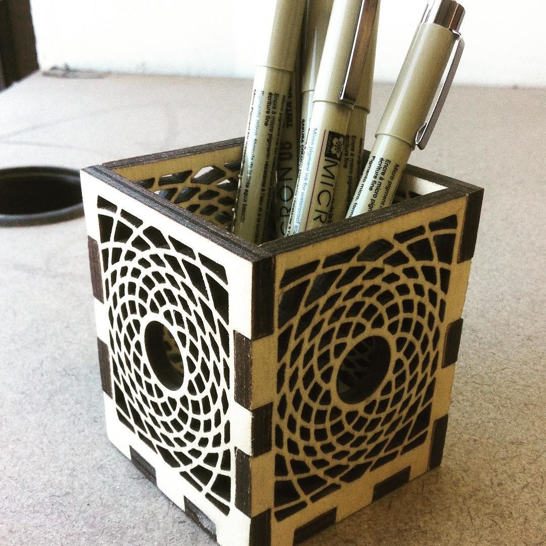 Pencil Holder Laser Cutter Project Plans - Year of Clean Water