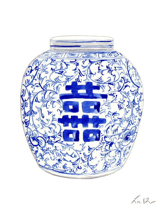 blue and white ginger jar art 8 ginger jar painting chinoiserie art