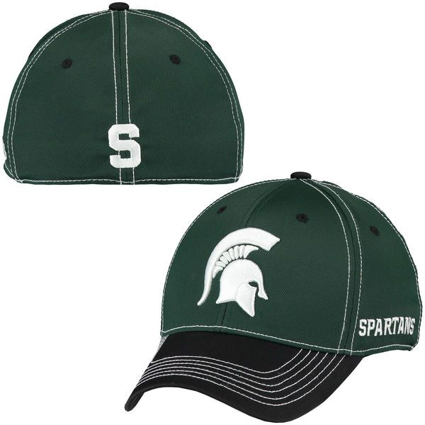 Michigan State Spartans Top of the World Krossover 2-Tone Memory 1Fit Flex  Hat - Green White 60a773b83b00