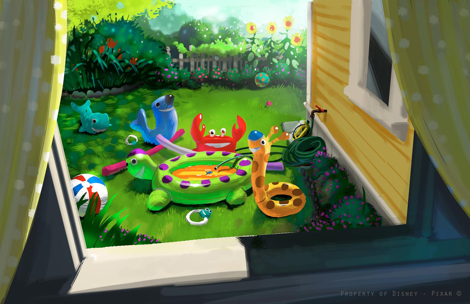Toy Story Partysaurus Rex Concept Art
