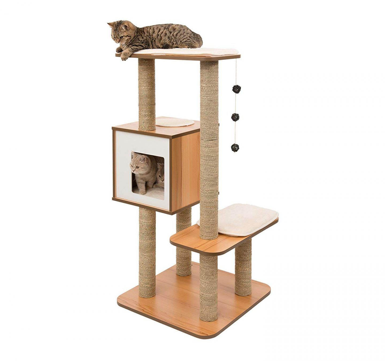 Best cat tree for small apartment dwellers vesper cat
