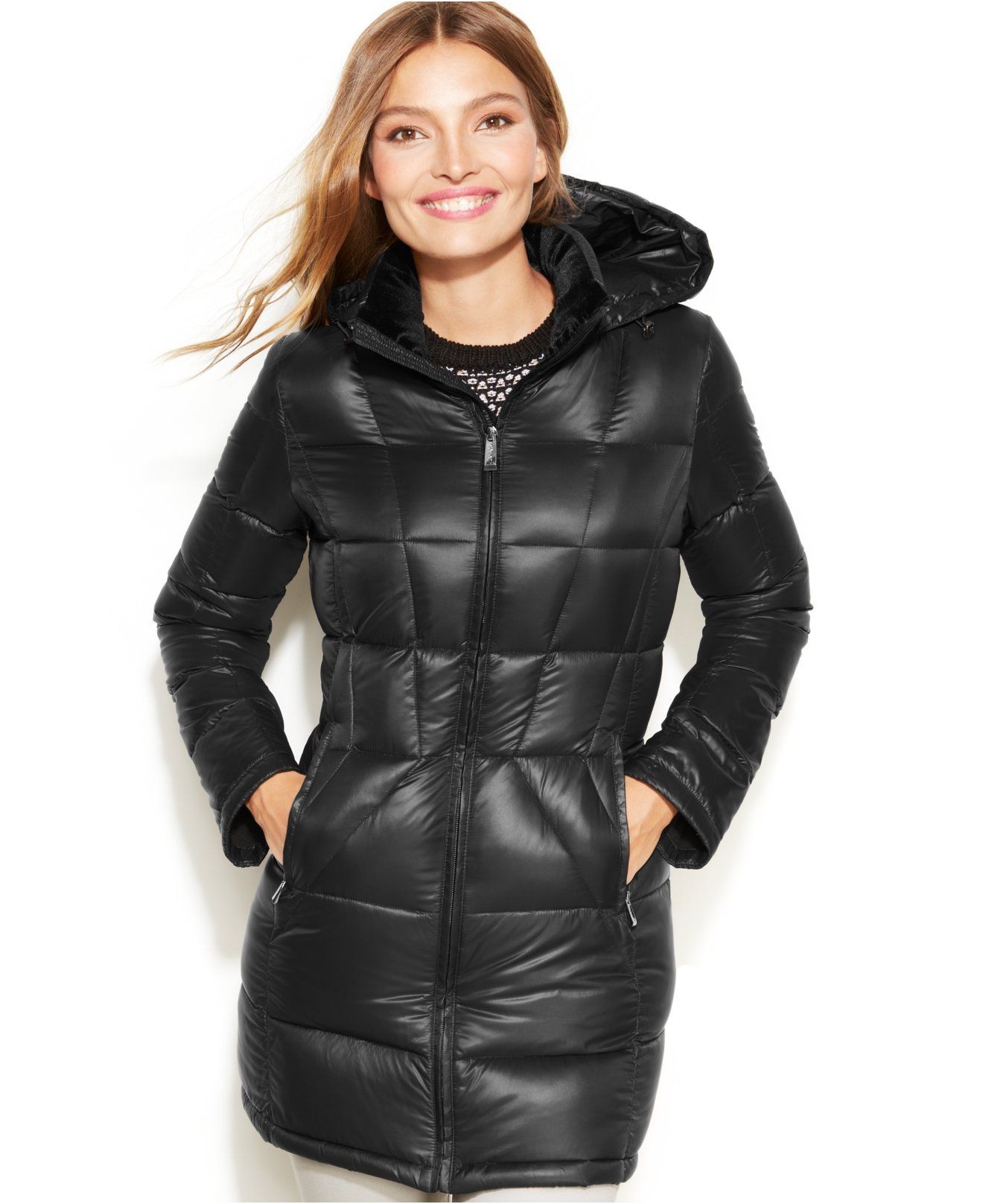 b6f9552326b Calvin Klein Petite Packable Quilted Down Puffer Jacket - Coats - Women -  Macy s