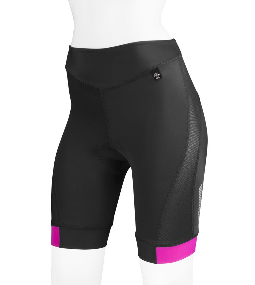 Aero Tech Women S Elite Padded Bike Shorts With Air Gel And Aerocool Mesh Ventilation