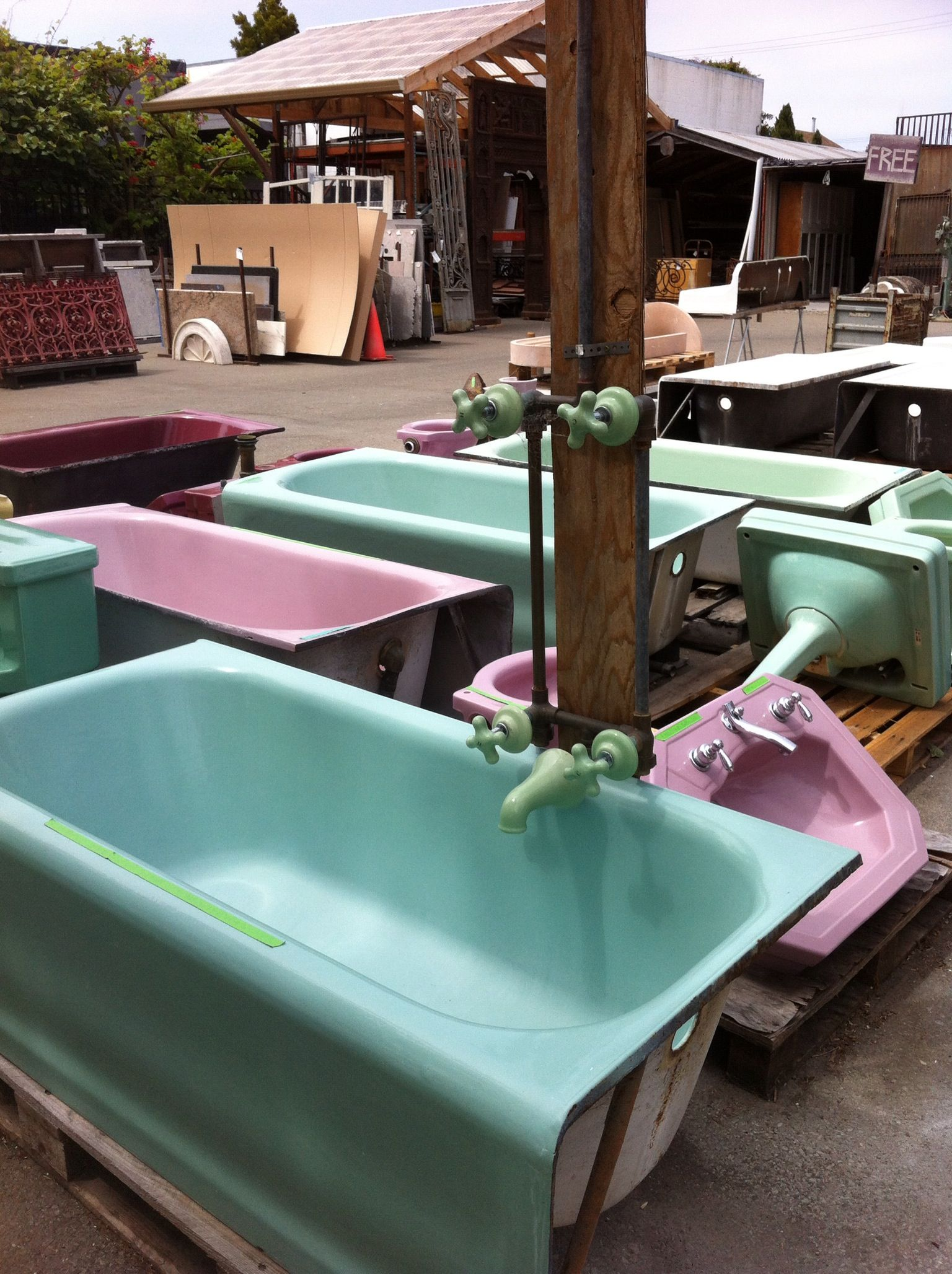 COLORFUL! Old Bathtubs #2 @ Ohmega Salvage Berkeley, CA #vintage ...