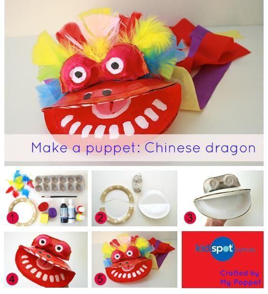 Make a puppet: Chinese dragon