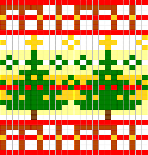 Ravelry: Christmas tree chart pattern by Sandra Jäger | fair isle ...