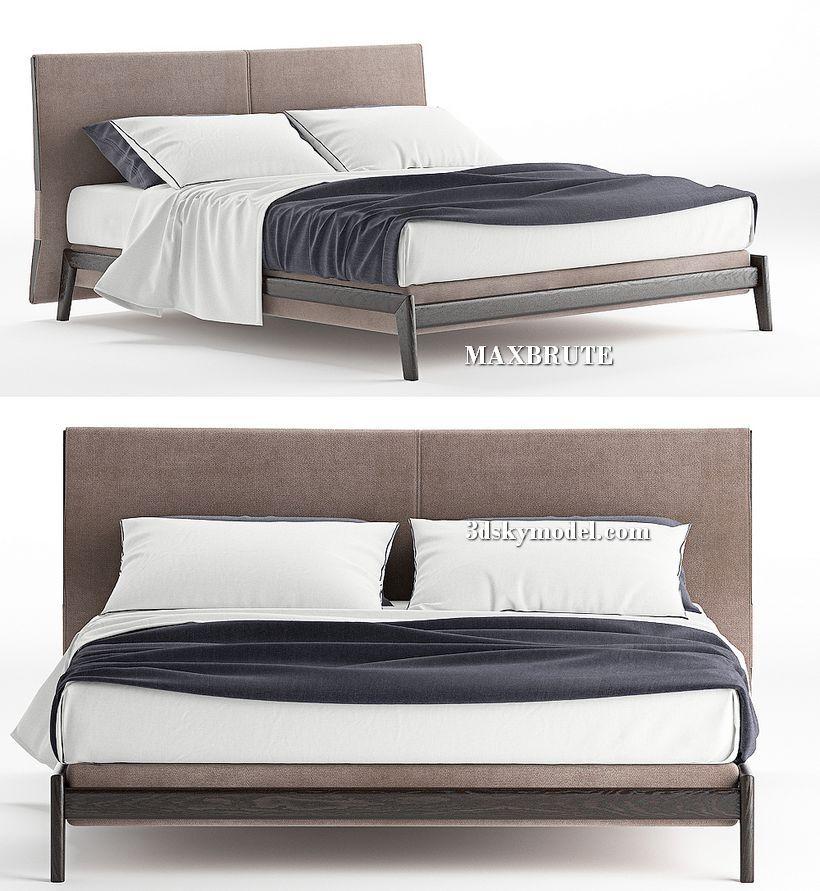 Best Ipanema Poliform Bed 3Dsmax Sketchup Scandinavian Style 400 x 300