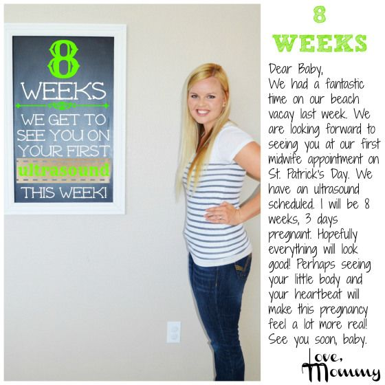 Baby #2 BUMP REPORT - 8 Weeks | 6 week baby, First midwife ...