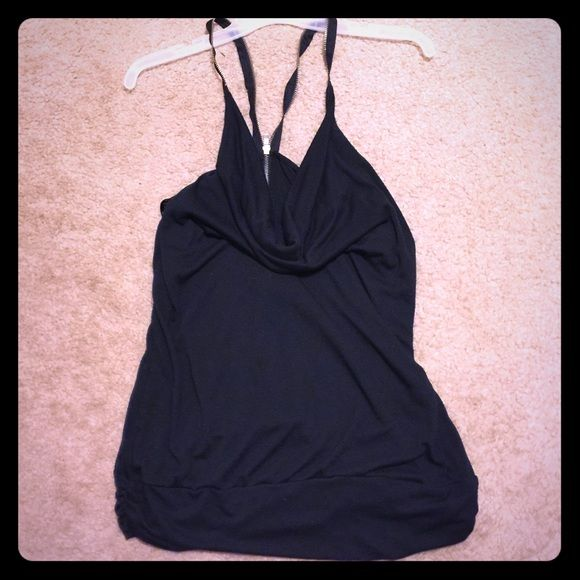 Black tank top: zipper on back and as straps! Black tank top: zipper on back and as straps! Tops Tank Tops