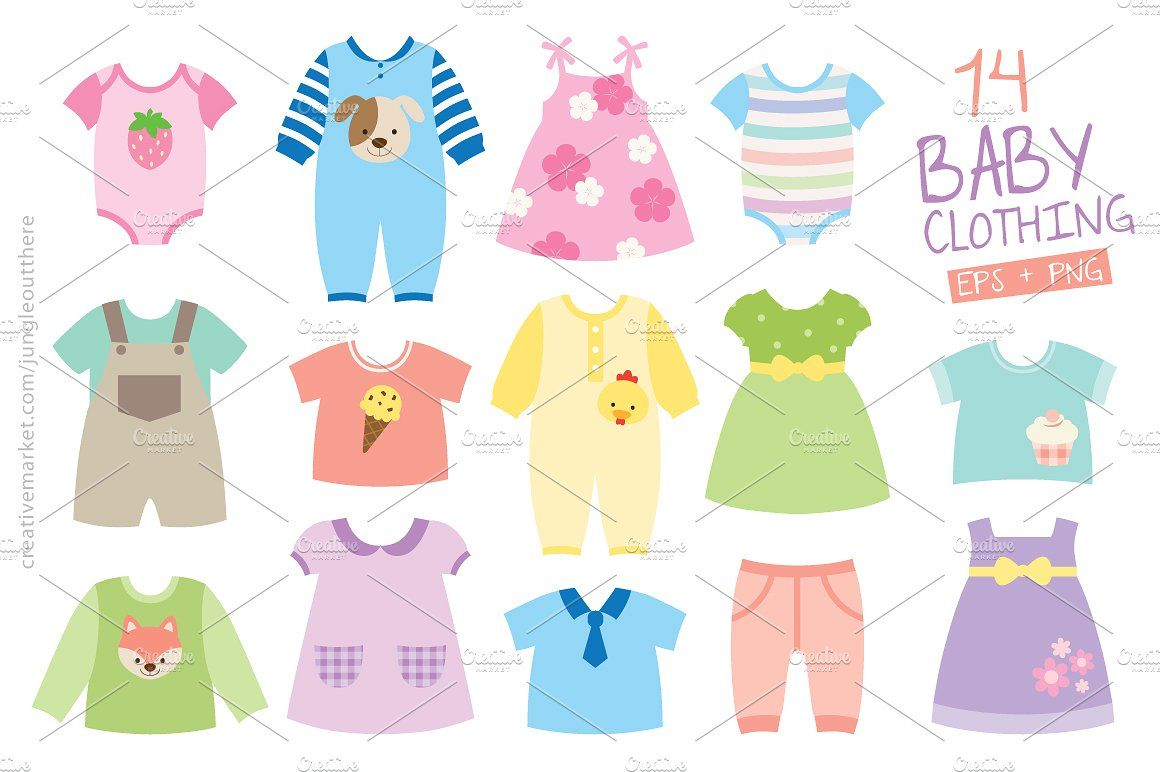 Baby Clothing Vector And Png Wordpress Theme Design Baby Clothes Vector
