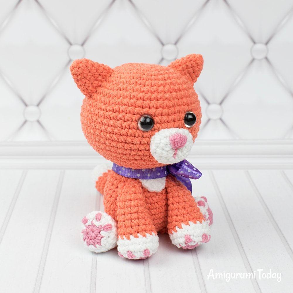 Ginger Cat Amigurumi Pattern Crochet Cat Pattern Cat Amigurumi