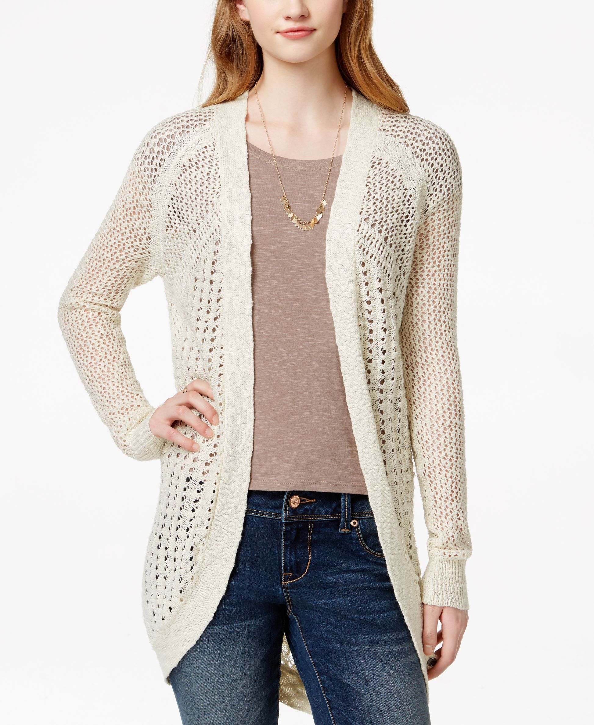 Roxy Juniors Sea Of Love Knit Cardigan Sweater