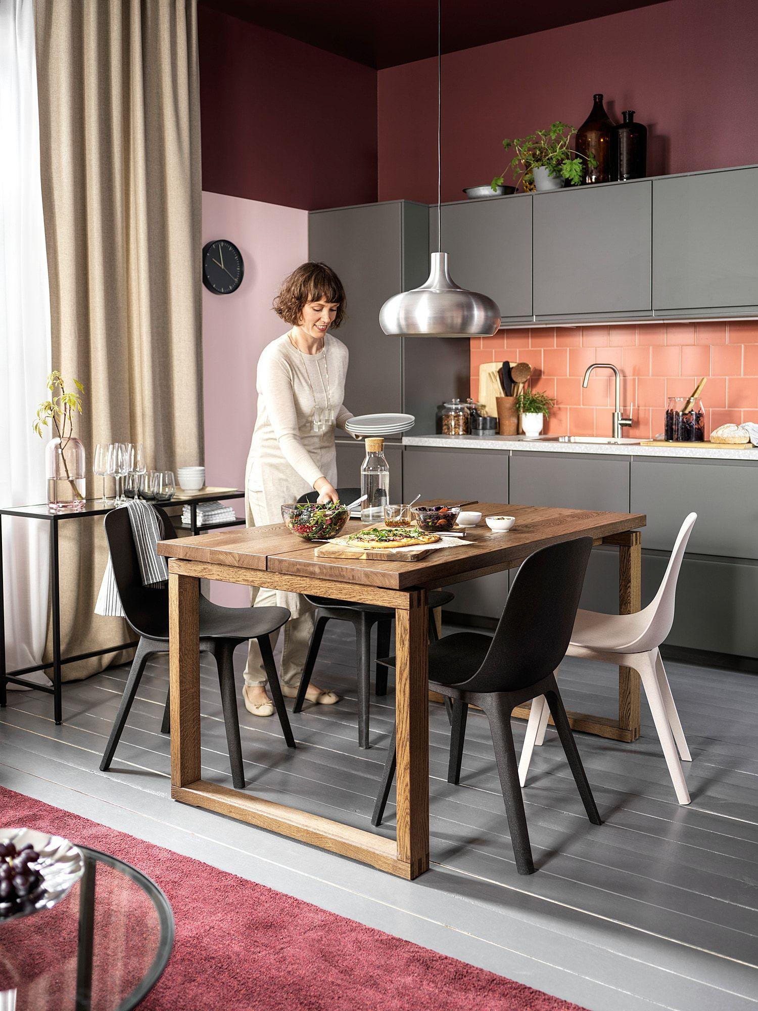 Morbylanga Table Oak Veneer Brown Stained Ikea Canada Ikea Top Kitchen Trends Table Ikea [ 2000 x 1500 Pixel ]