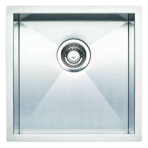 Blanco 518168 Quatrus Small Single Bowl Bar Sink in Satin PREFER A ...