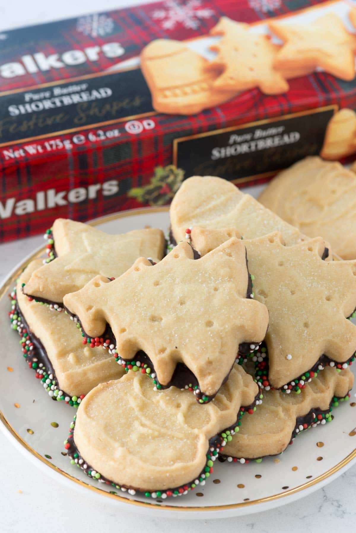 Chocolate Dipped Shortbread  An Easy 5 Minute Semi Homemade Recipe