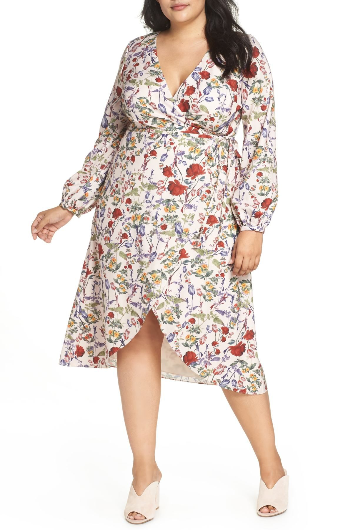 Floral Wrap Hi-Lo Dress (Plus Size) in 2019 | Personal Style ...