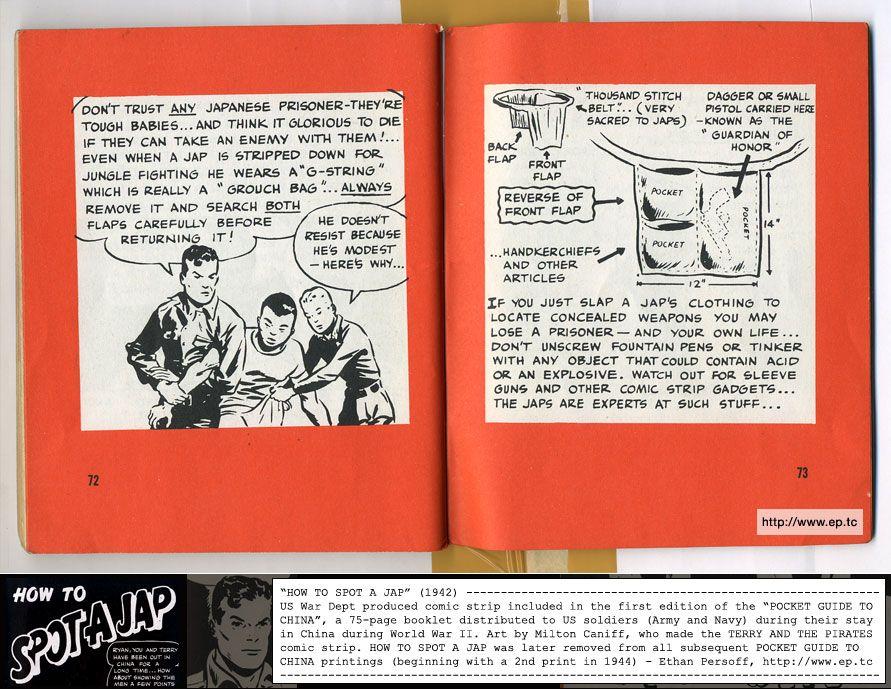 """How to Spot A Jap,"" War Department Publication, 1942"