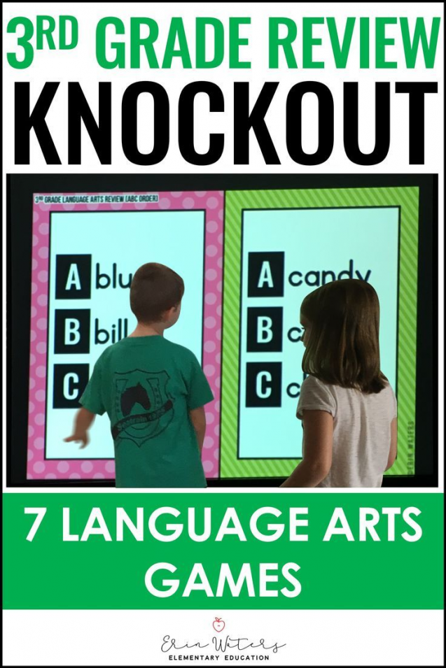 This 3rd Grade Language Arts Knockout End of the Year Review is great for 3rd…