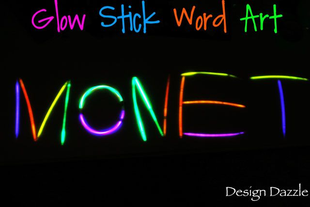 Design Dazzle: Summer Camp: 10 Awesome Glow Stick Ideas