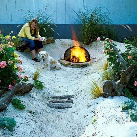 Gartengestaltung Beispiele, Sand Im Garten | Garden Fireplaces
