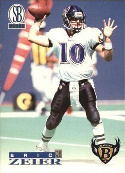 1996 Score Board Ravens/Exxon #2 Eric Zeier Front
