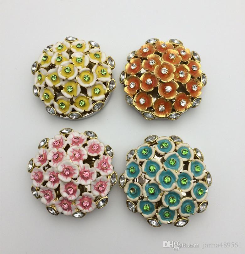 100 Pcs Lot Flower Client Souvenir Gift Handbag Hook Zinc Alloy Crafts Oem Bag Hanger Foldable Holder Restaurant Luggage
