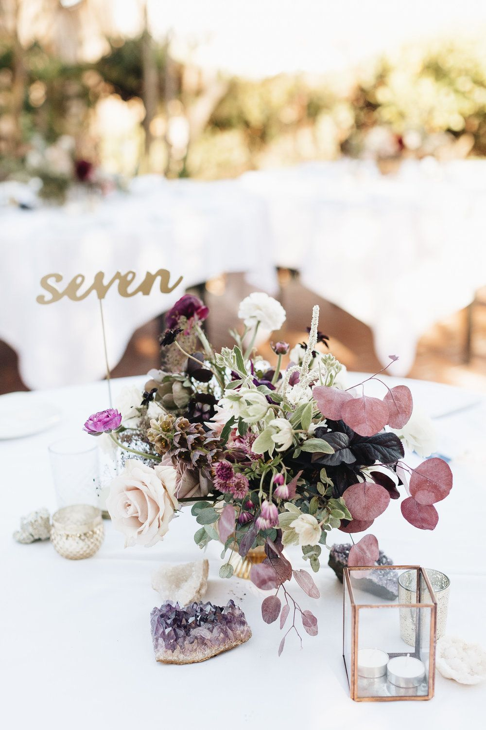Purple wedding. Romantic wedding centerpiece. geo wedding. | The ...
