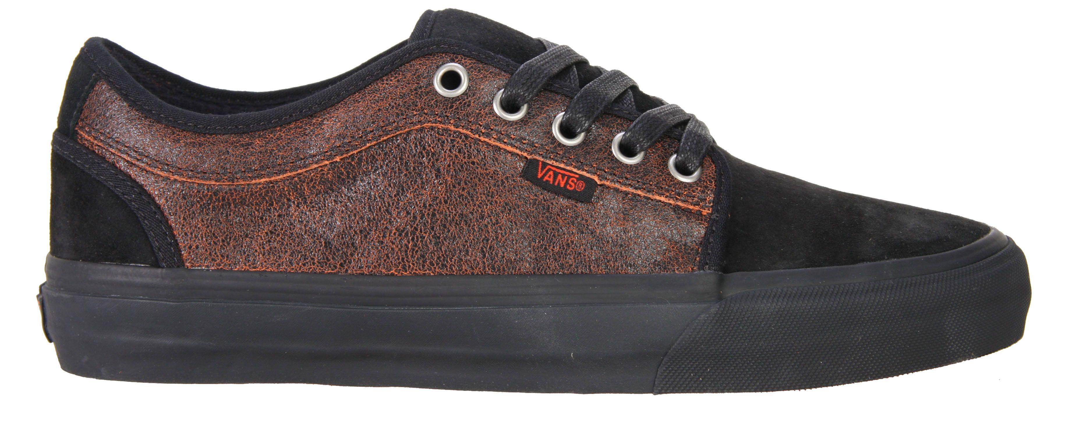 c2ab3f9dce08 Vans Chukka Low Skate Shoes Black Orange - Men s