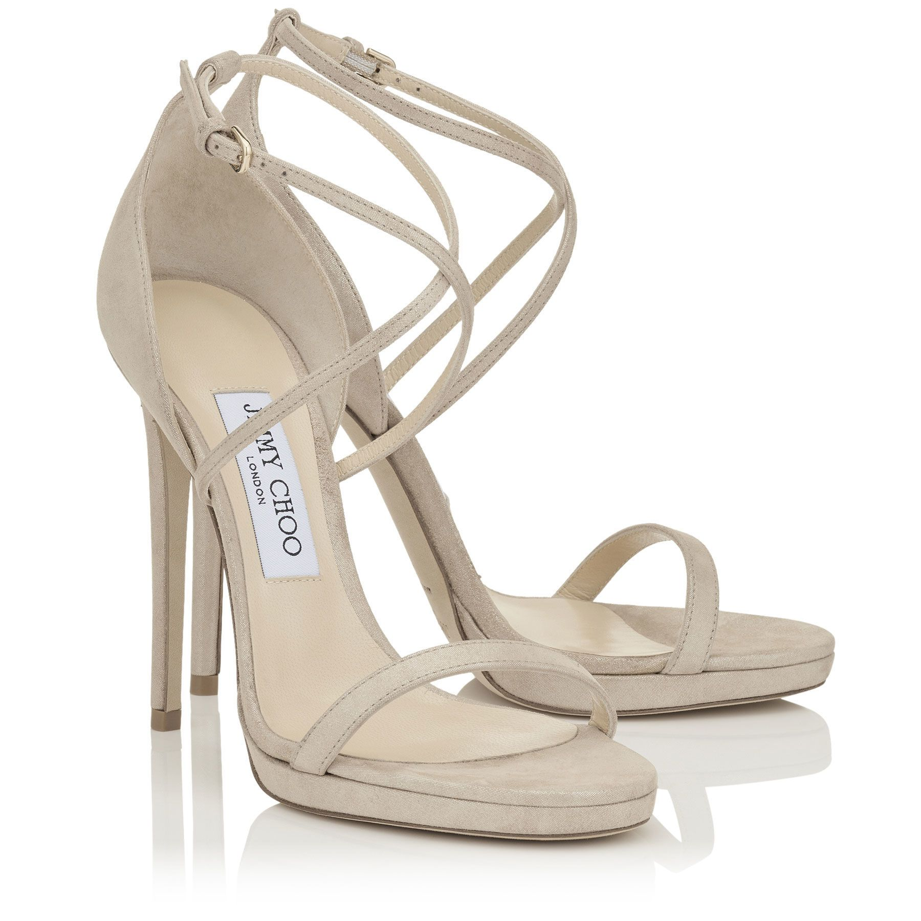 bbc11cba87d0 Sand Shimmer Suede Sandals