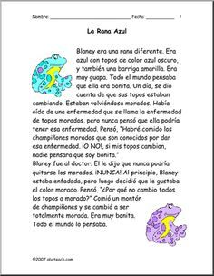 Spanish Reading Comprehension worksheets | Hairstyles | Pinterest ...