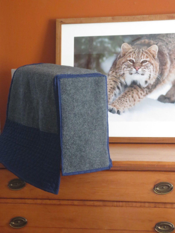 cat scratching furniture arm protector custom made blue scratch