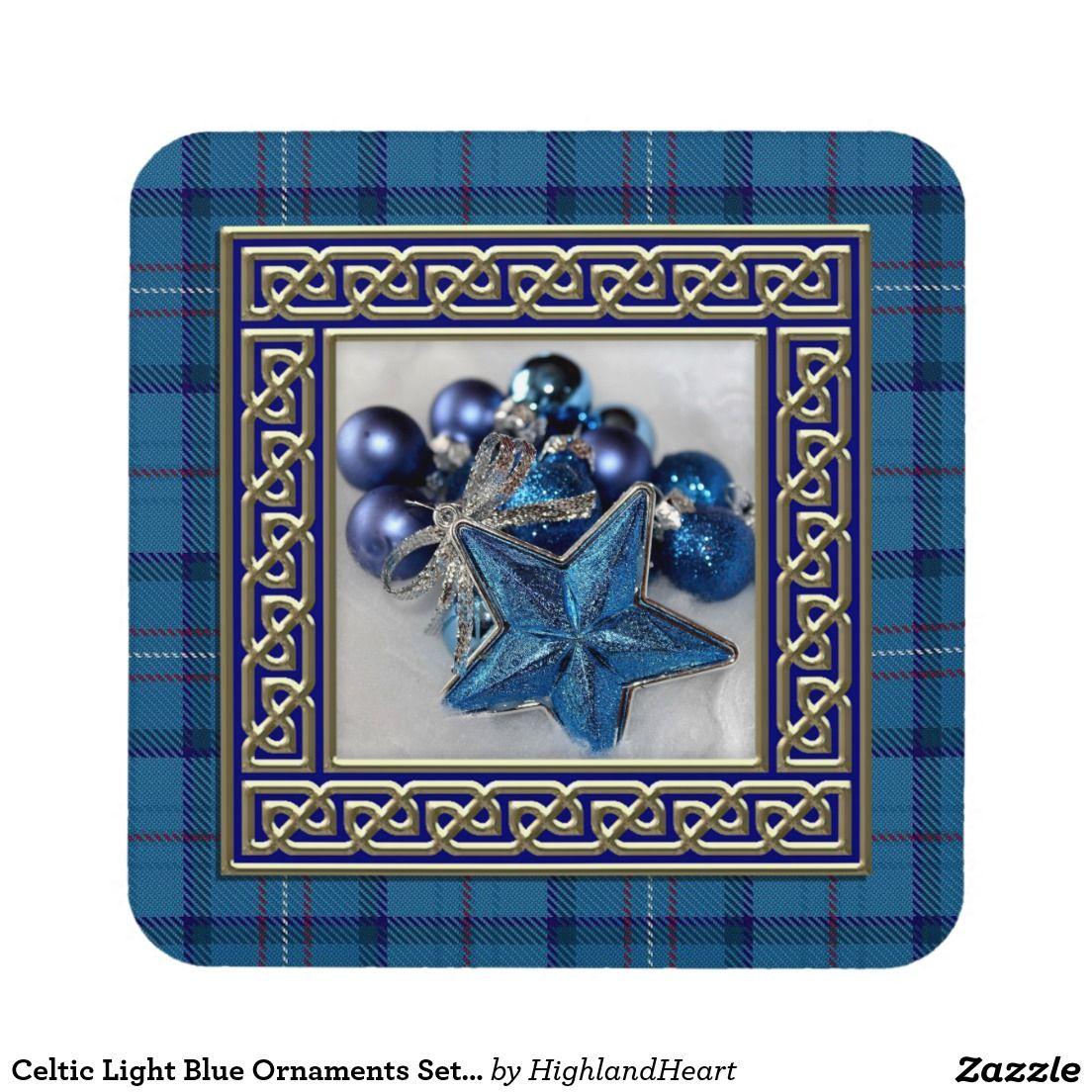 Celtic Light Blue Ornaments Set of 6 Coasters