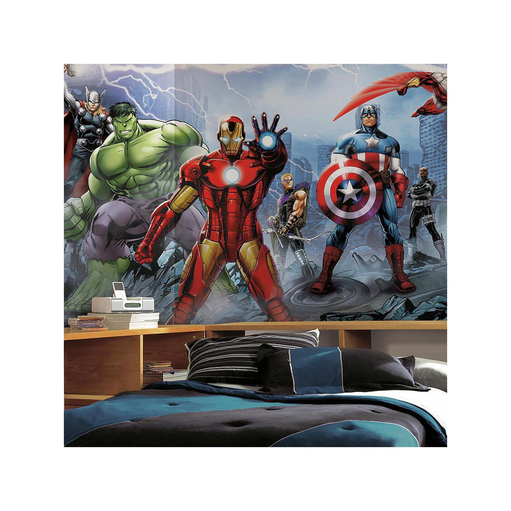 14e6cae0eec Marvel Avengers Assemble Removable Wallpaper Mural | Products ...